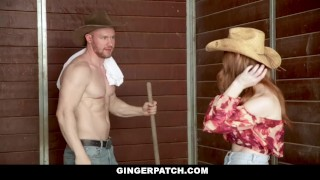 By cowboy dicked sexy down gingerpatch ginger bigtits snow