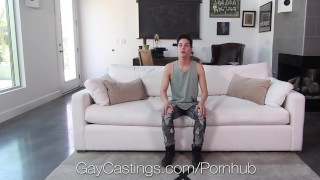 Gaycastings casting newcomer agent swallows gay fucking