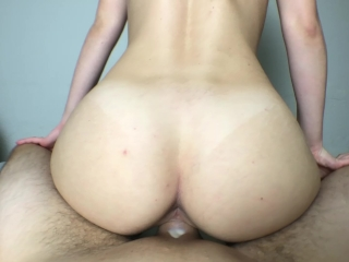 He cums inside my tight creamy pussy