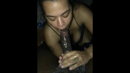 Ebony Sloppy messy head in slow motion