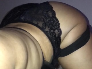 Phat ass sexy booty redbone bbw shakes while...