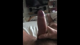 Just a quick morning jerk in bed with a big cumshot