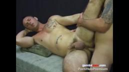2 Str8 Guys KISS SUCK & handsomRyan gets FUCKED and CREAMED in hot Facial!!