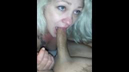Wife trying to deepthroat