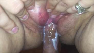 Tranny Sadee Fucks Horny Girl Pussy Balls Deep Driping Wet & Cumming