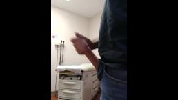 Jerking off in the doctors office