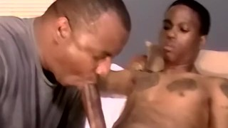 Inked amateur Ricco has BBC blown by mature homos