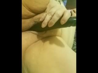 Ariesbbw in black dildo fuck