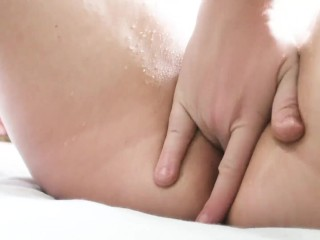 girl has squirting orgasm while guy fingering pussy hard