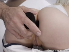 Finnish blonde Miss Melissa fucked in the ass