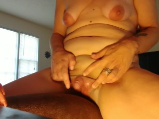 Humping my Big Clit on the Couch