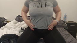 Titty Drop - Playing with my big tits
