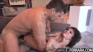 Manuel Ferrara - Bonnie Rotten Tattooed Trollop Contorts For Anal