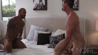 NoirMale Rough Interracial Sex With Sexy Muscle Hunk Big Dick Boys