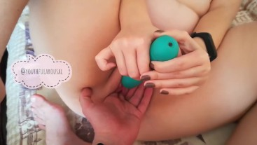 fingering and take orgasm with toys