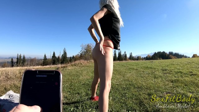 Fun in the Mountains With Lovense Toy! 19