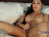 Super Cute Teenager Pi Ladyboy Masturbating her sweet cock and cumming