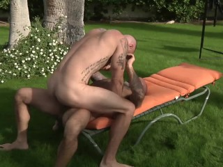 Outdoor Daddy Bareback Pounding