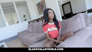 BlackValleyGirls - Stepsister Teaches Her To Suck Cock