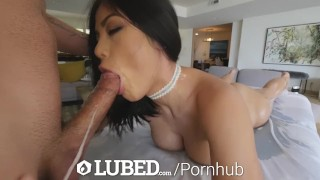 LUBED FAT ASIAN PUSSY takes an OILED UP POUNDING Taiwan toned