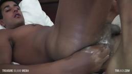 Hot Indian twink fists himself + HUGE dildo