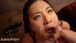 私の雄鶏に窒息する中国の妻