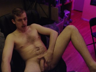 Huge uncut cock on webcam stud fondles his...
