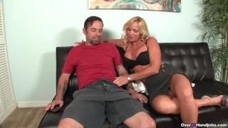 Milf Gets To Handjob Young Guys Big Cock