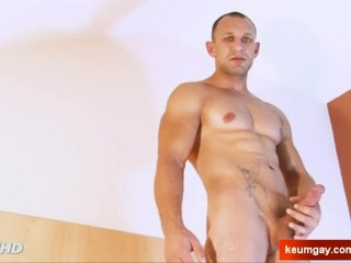 Straight russian military guy serviced in gay porn in spite of him.