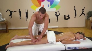 Massage Rooms Blonde babe Shona River fucked doggystyle by studly masseur