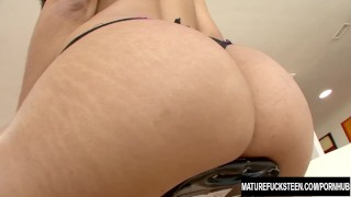 Teen Jaslin Diaz gets creampied by older guy Actress pussy