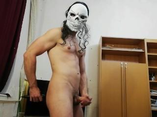 Halloween Special jerking and big creamy cum