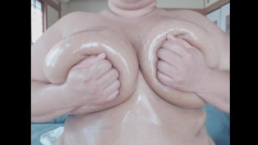 Oiled Breast Massage