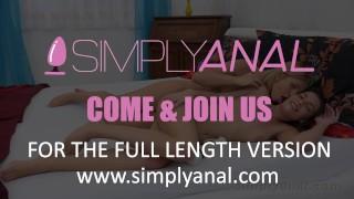 Lesbian Anal - Gorgeous girls lick their anal toys! Waist big