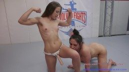 Lesbian Wrestling with Muscle babes getting fucked if they loser