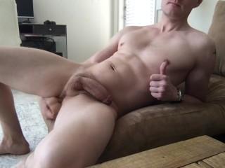 Guy Fucks Himself And Cums