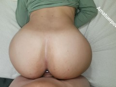 Big Booty Latina Balls Deep Pussy Creampie - She holds in the Cum HD