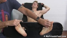 Blond jock Jonathan tied up and tickled into submission