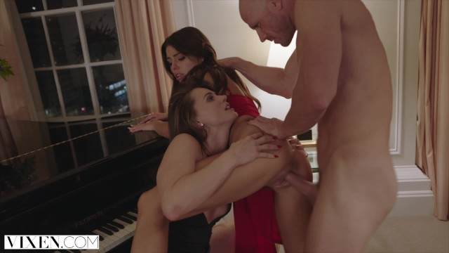 Licking black dick Vixen tori black and adriana chechik in the hottest threesome ever made