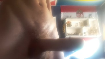 Playing with my hole as I stroke out a 3 day load