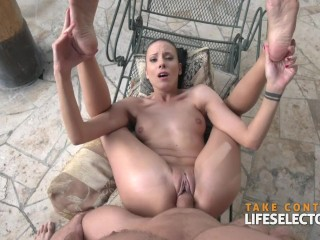 Kinky ballerinas are fucking their director and each other in POV