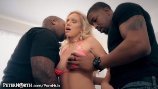PeterNorth MILF Gangbang All 3 Holes Plugged Up By Big Black Dicks