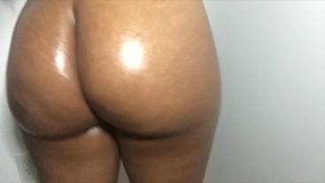 Sweet big booty oil tease