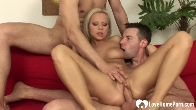 Two rods and a hot blonde babe 18