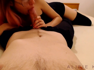Smoke, suck and fuck POV He cums instantly!