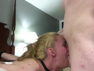 bdsm extreme throat fuck, no mercy for her throat