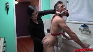 Strapon pegging amazing dicked on