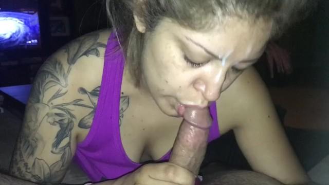 Sloppy deep throat from Horny MILF 7