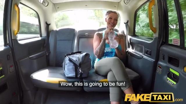 British Ebony Fake Taxi