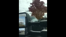 Lunch break blowjob in her school parking lot (quickie)